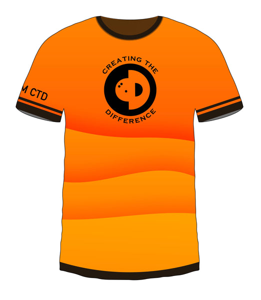 Orange Color Wave Jersey