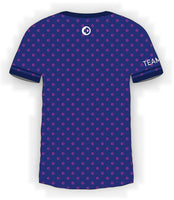 Pink CTDots on Blue Jersey