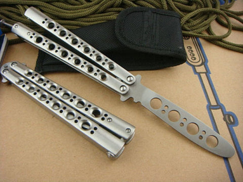Enhancd Version Metal Steel Practice Balisong Butterfly Trainer