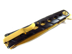 Golden Folding Blade Knife Folding Knife No offensive blade