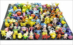 Icetek Pokemon Action Figures, 144-Piece, 2-3 cm