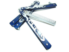 Icetek Sports Balisong Unique Design Folding Butterfly flail Comb