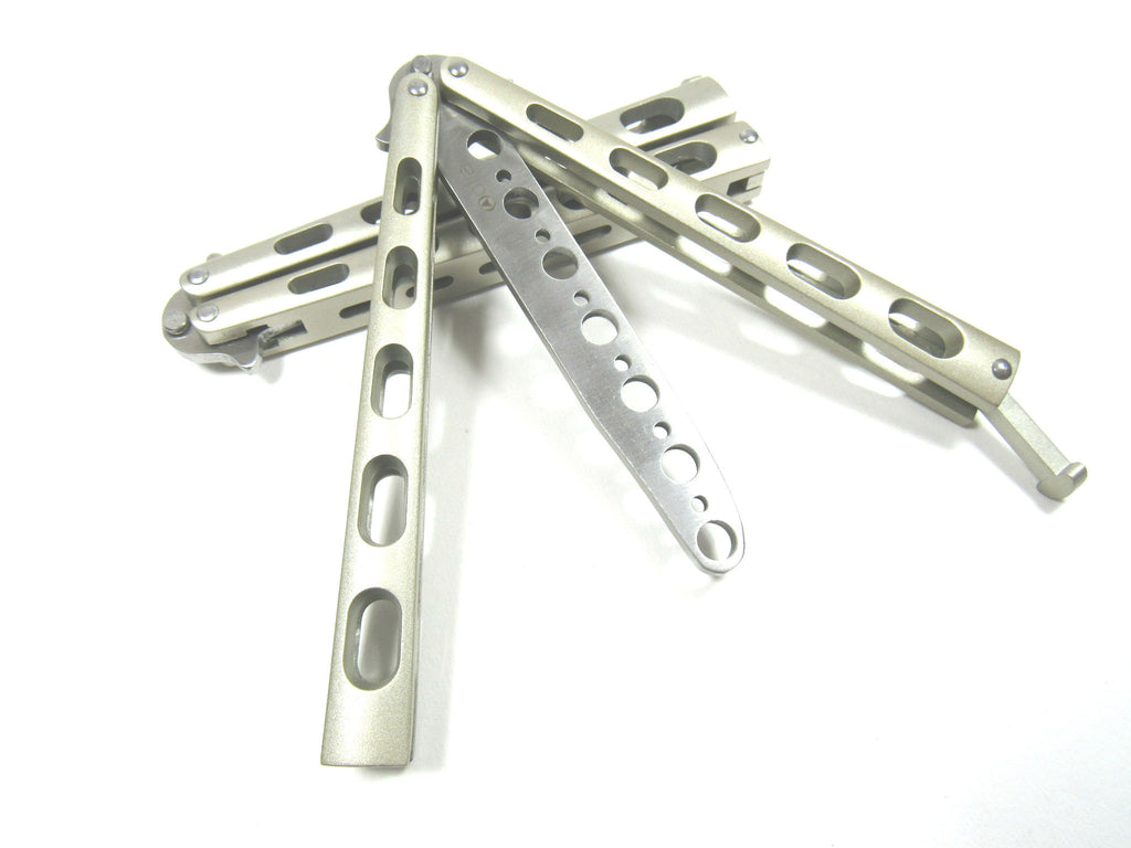 Golden Metal Practice Balisong Butterfly Knife Trainer