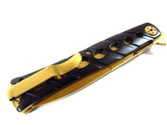 Icetek Sports Golden Folding Spear Point Blade Knife Folding Knife (No offensive blade)