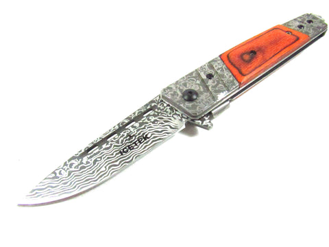 Red Handle Fixed Blade Knife