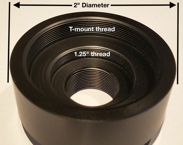 "Revolution C mount to 2"" and T adapter"
