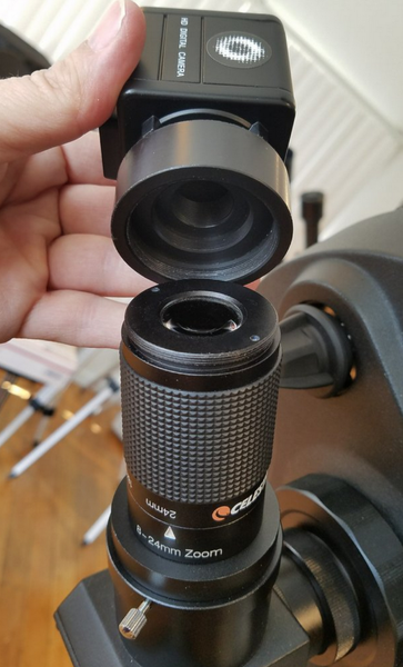 Celestron 8-24mm Zoom Eyepiece with T-Thread