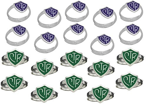 H14G - H14PR Adjustable CTR Ring Green Purple