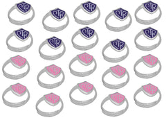 """Adjustable CTR Ring"" - 20 Pack - Purple and Pink - H14PR - H14P"