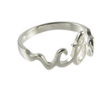 H13 Mormon LDS Unisex CTR Cursive Stainless Steel CTR Ring One Moment In Time
