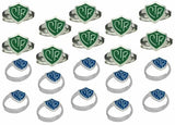 H14B H14G Mormon LDS Unisex CTR Ring Adjustable 20 Pack Blue & Green One Moment In Time