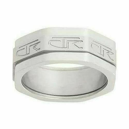 J110 Mormon LDS Unisex CTR Ring The Right Ring Edge Stainless Steel One Moment In Time