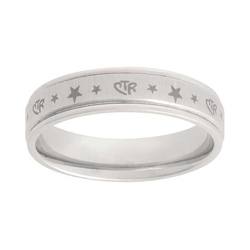 J126 CTR Ring Stainless Steel Aries Star