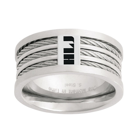 "J121S - CTR RING Stainless Steel SPANISH ""Triple Cable"" HLJ"