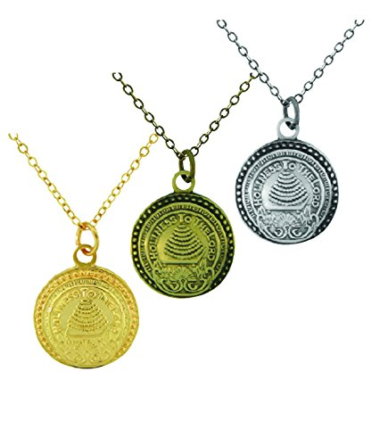 SLC Temple Doorknob ctr Necklace