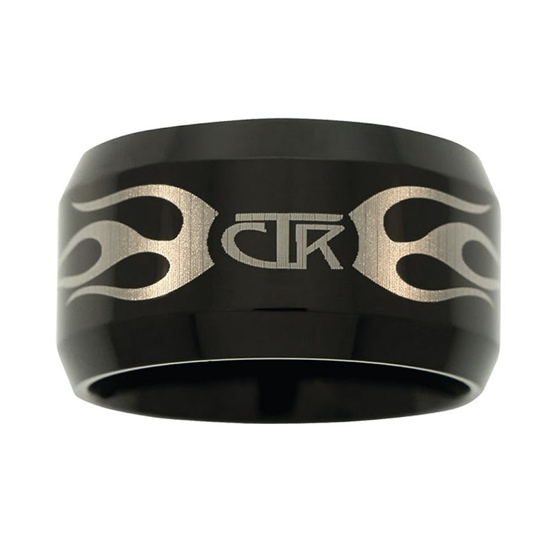 J129 CTR Ring Flames Black Titanium Ion Carbide Ignitor