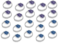 """Adjustable CTR Ring"" - 20 Pack - Purple and Blue - H14PR - H14B"