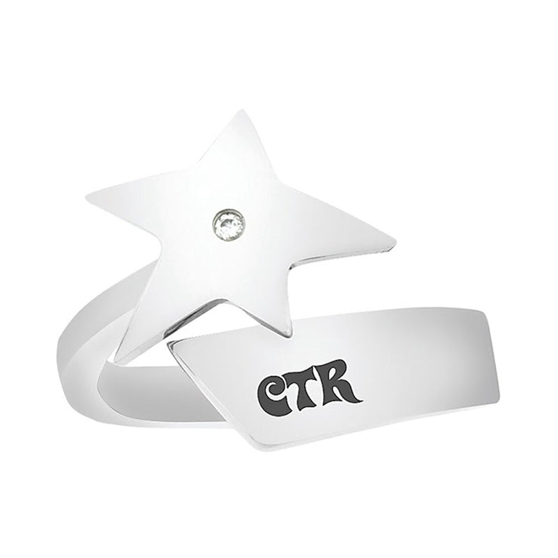 J130 CTR Ring Stainless Steel Super Star