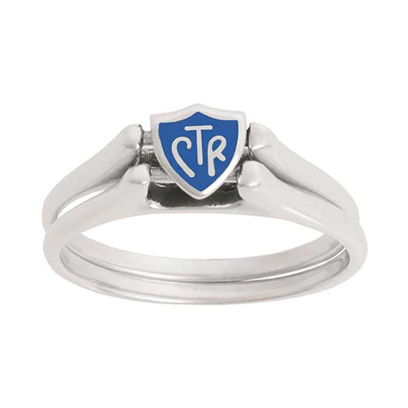 J62B CTR RING Sterling Silver  Flip Blue 5