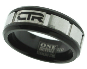"""ACE"" - Stainless Steel - CTR Ring - J182"