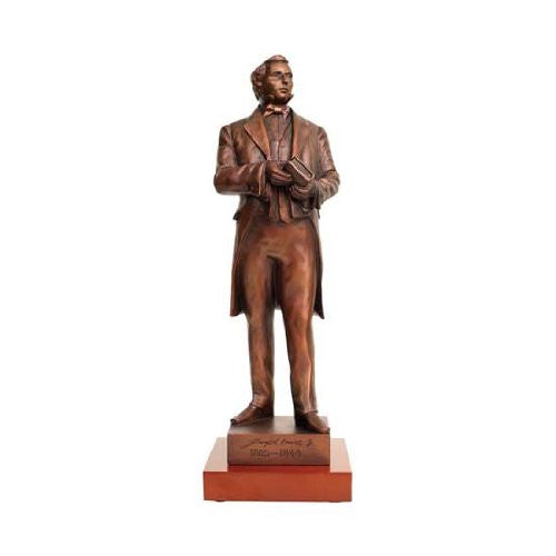 "Joseph Smith Statue Bronze 14"" with wood base - S20W"