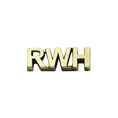 "Pin Tie Tack ""RWH"" Return With Honor- Antique Gold"