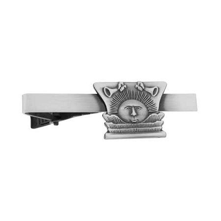 "Tie Bar "" Nauvoo Sunstone"" Antique Silver - J9TB"