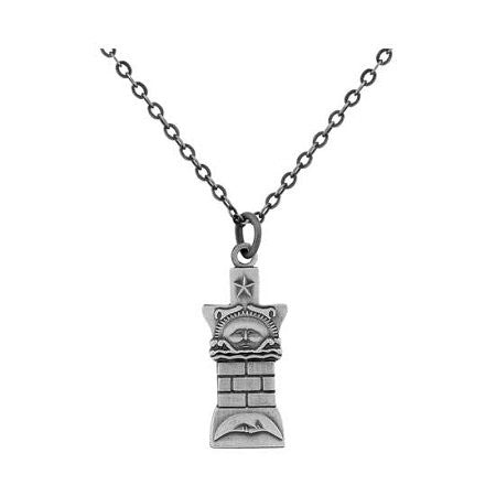 J14 Necklace Nauvoo Temple Pillar Silver One Moment in Time