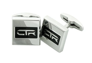 Cufflinks CTR Stainless Steel w/ Black Antique - L1