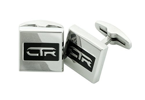L1 Cufflinks CTR Stainless Steel w/black Antique