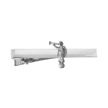 J79S Tie Bar Angel Moroni Silver