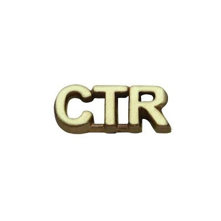 "Pin Tie Tack "" CTR "" Antique Gold - J35AG"