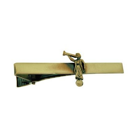 J79AG Tie Bar Angel Moroni Antique Gold