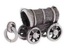 J32 CTR Charm Sterling Silver Covered Wagon