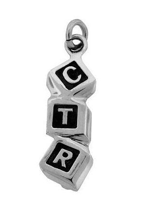 "Charm Sterling Silver ""CTR"" - J96"