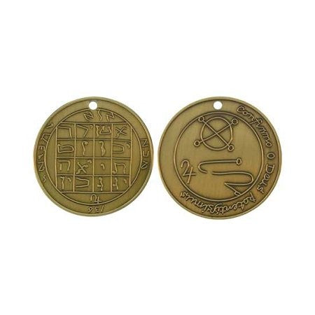 M1AG Joseph Smith Jupiter Talisman Antique Gold plated Coin