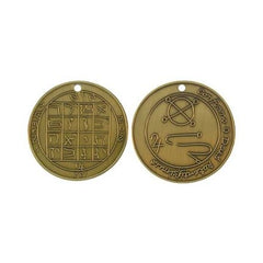 Joseph Smith Jupiter Talisman Antique Gold plated Coin - M1AG
