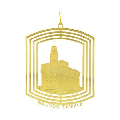 C36 Ornament, Nauvoo Temple 24kt Gold Plate One Moment in Time