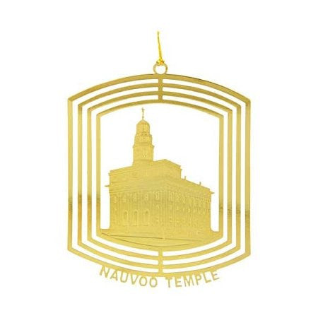 Ornament, Nauvoo Temple 24kt Gold Plate - C36