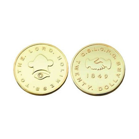 $20.00 Mormon Gold Coin Replica - M7