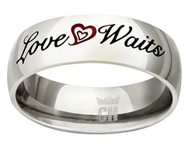 CH3 True Love Waits Stainless Steel CTR Ring One Moment in Time