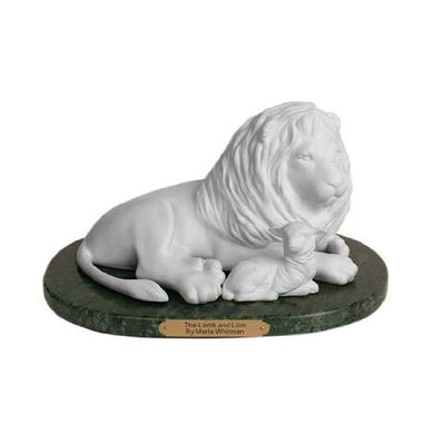 S45 Lamb and Lion Statue One Moment in Time