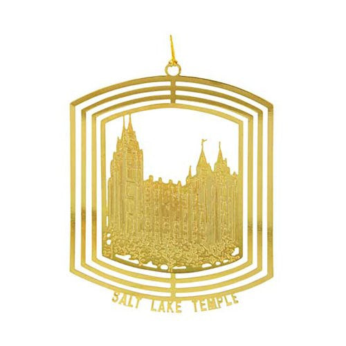 Ornament, Salt Lake City Utah Temple 24kt Gold Plate - C33