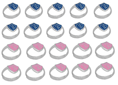 H14B - H14P Adjustable CTR Ring 20 Pack Blue and Pink One Moment in Time