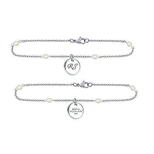 K13B Bracelet Relief Society Stainless Steel w/Pearl Chain