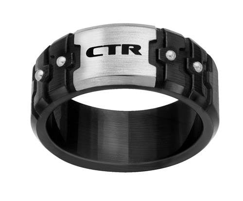 "J172 ""Rhino"" Stainless Steel CTR Ring size 10"