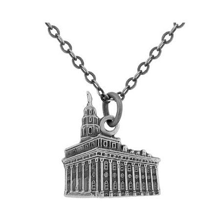 Necklace Nauvoo Temple Antique Silver - J108AS