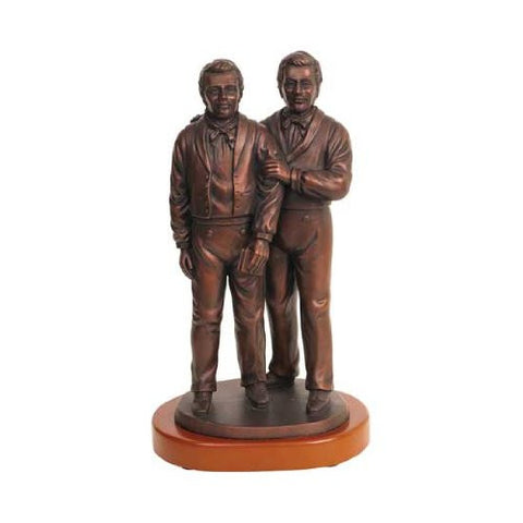 "10"" Brothers Joseph & Hyrum with Wood Base - S27w"