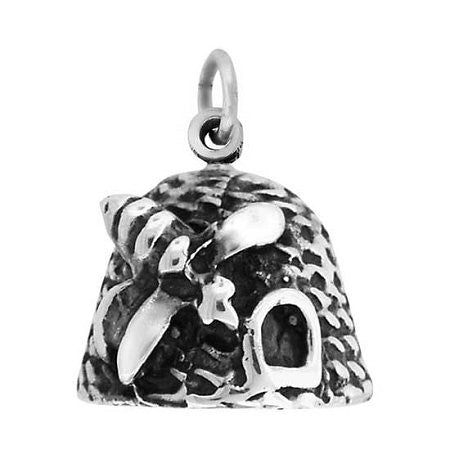 "Charm Silver Plate ""Beehive"" - J93"