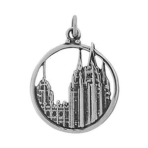 Salt Lake Temple Circle Charm J33